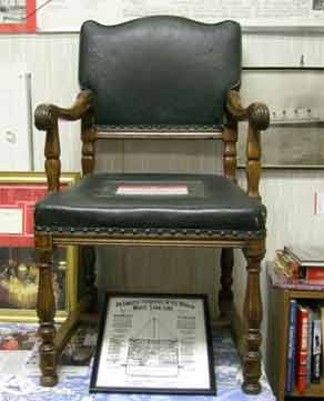 Chair from first class dining saloon RMS Olympic