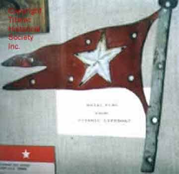 Lifeboat flag from Titanic