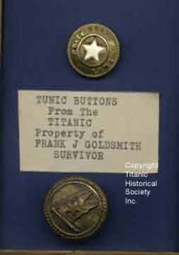 White Star Line Buttons From Titanic Survivor