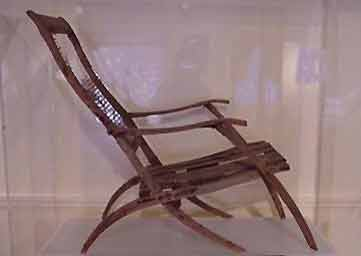 Wood and cane chair from Titanic